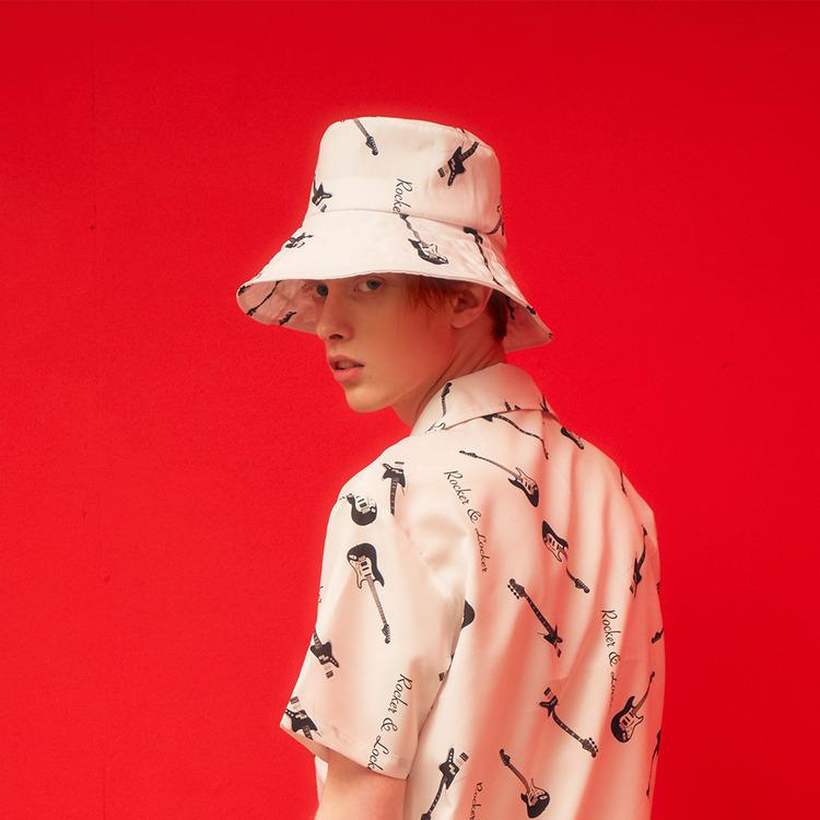 RL WIDE BUCKET HAT (WHITE)