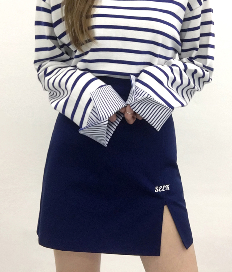 SEEK Slit Point Skirt Pants