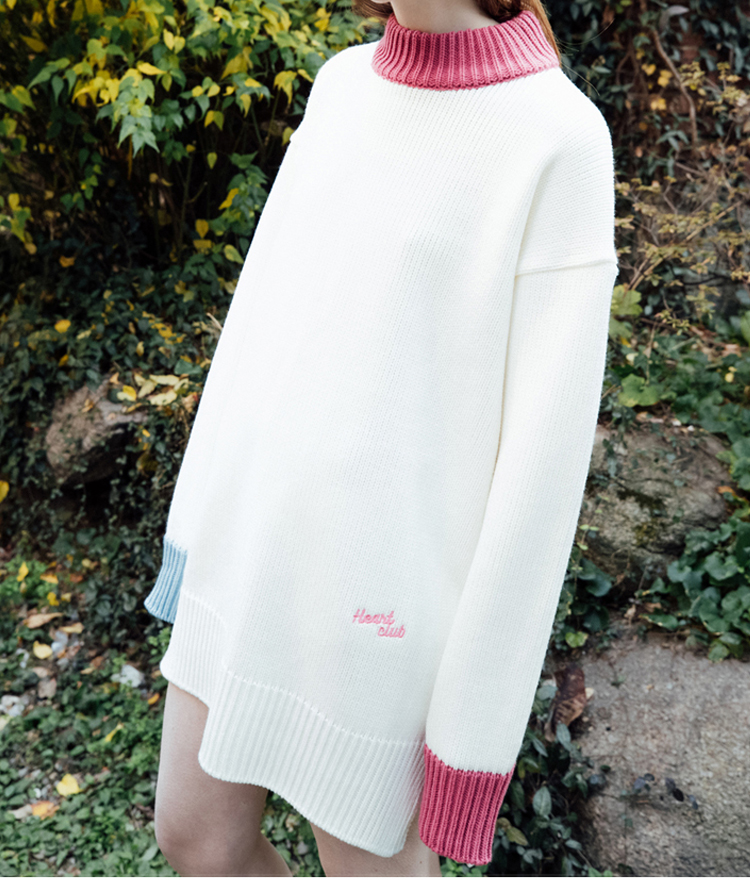 Heart Knit Dress (Ivory)