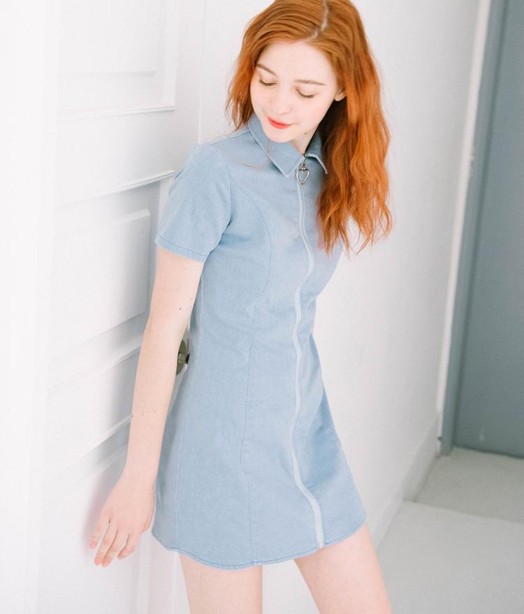 Heart Slider Denim Dress