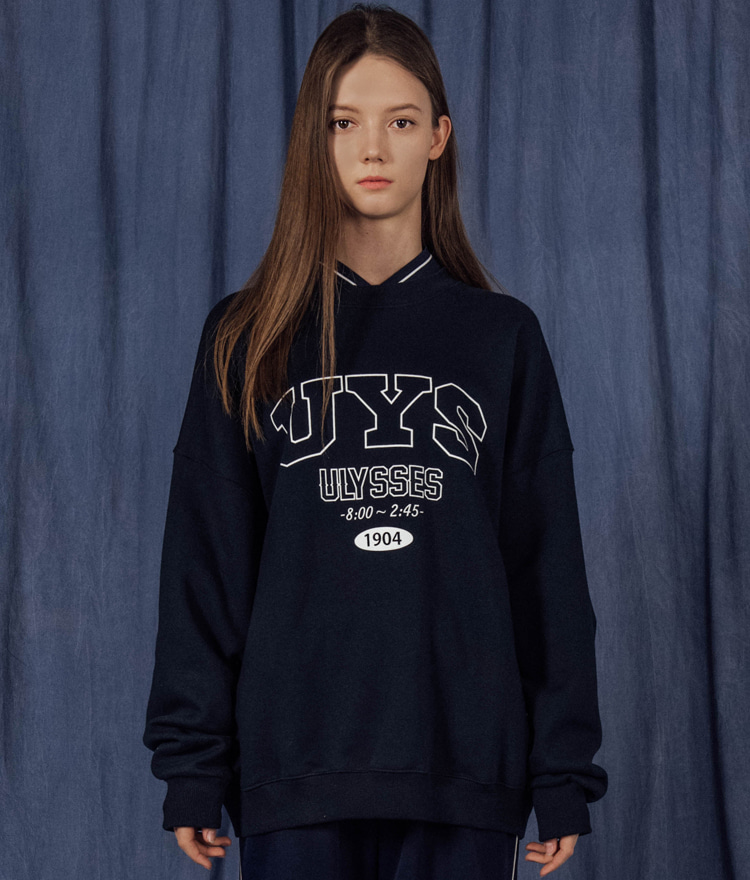 double neck ARCH LOGO sweat shirt