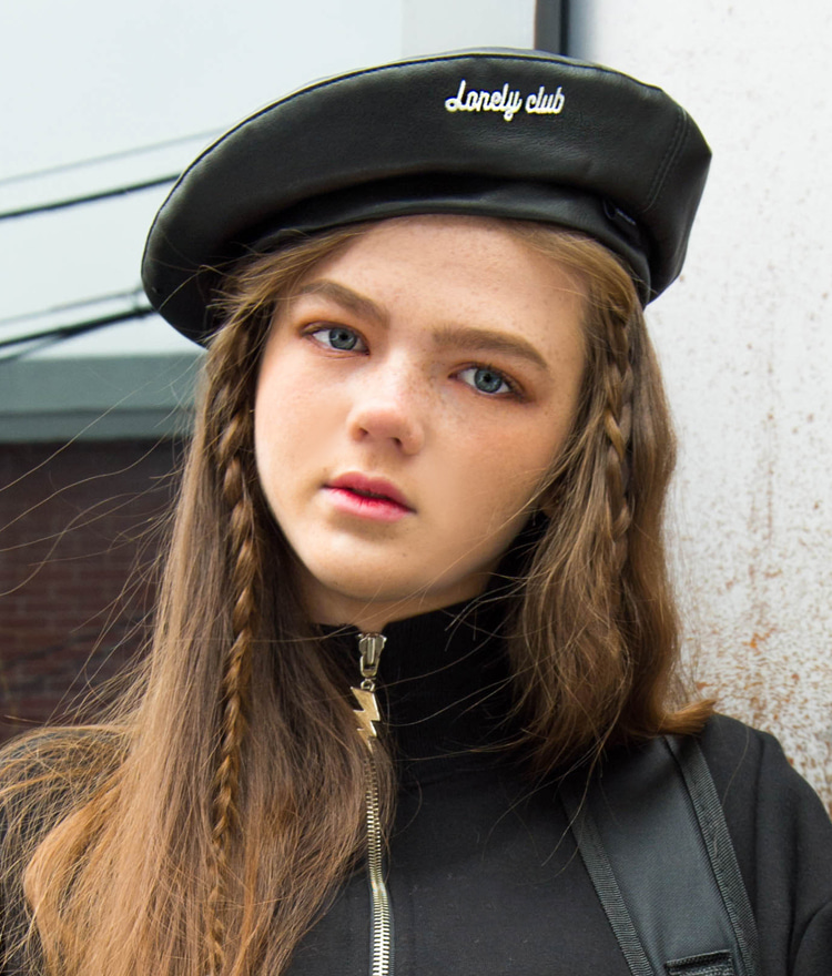 Lonely Leather Beret