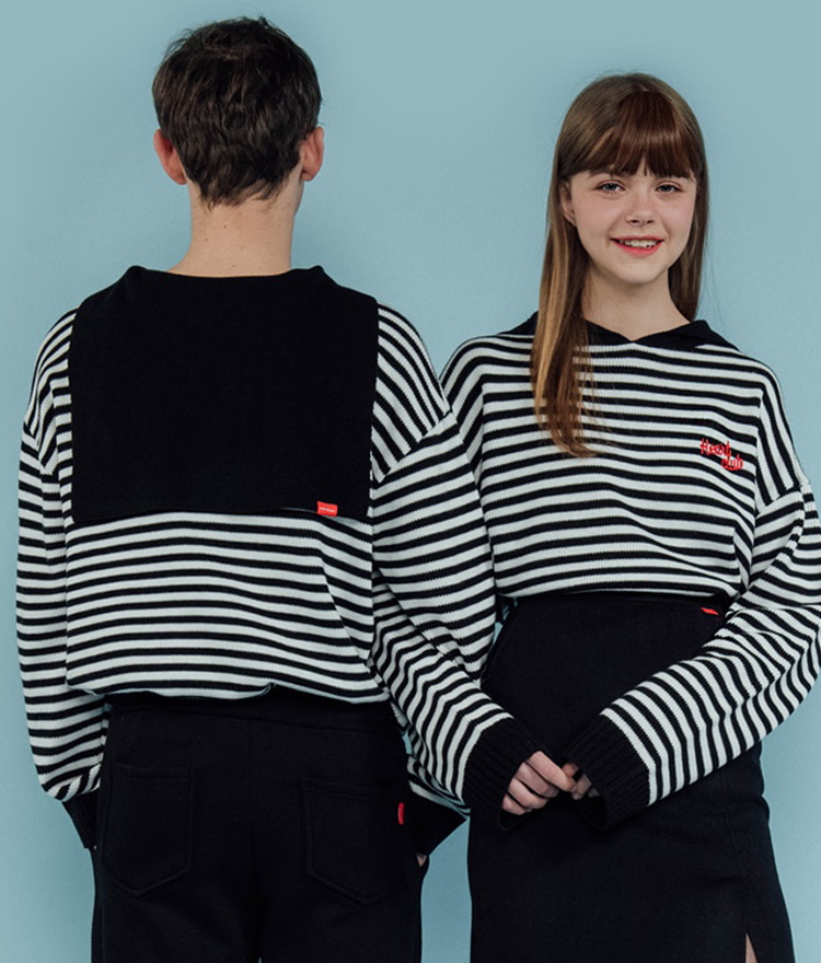 Heart Stripe Sailor Knit