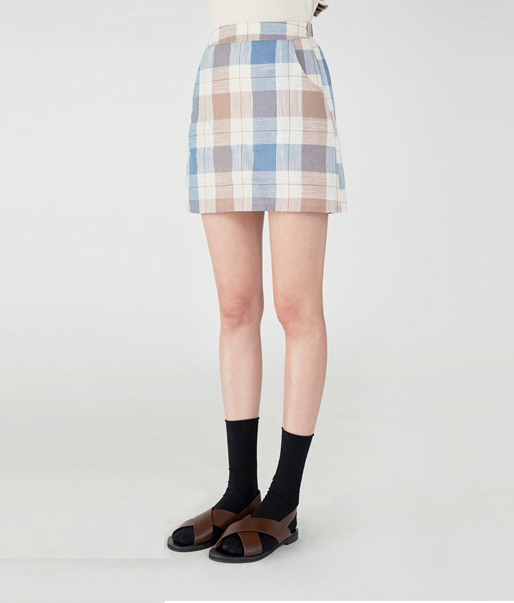 Pastel Checked Skirt