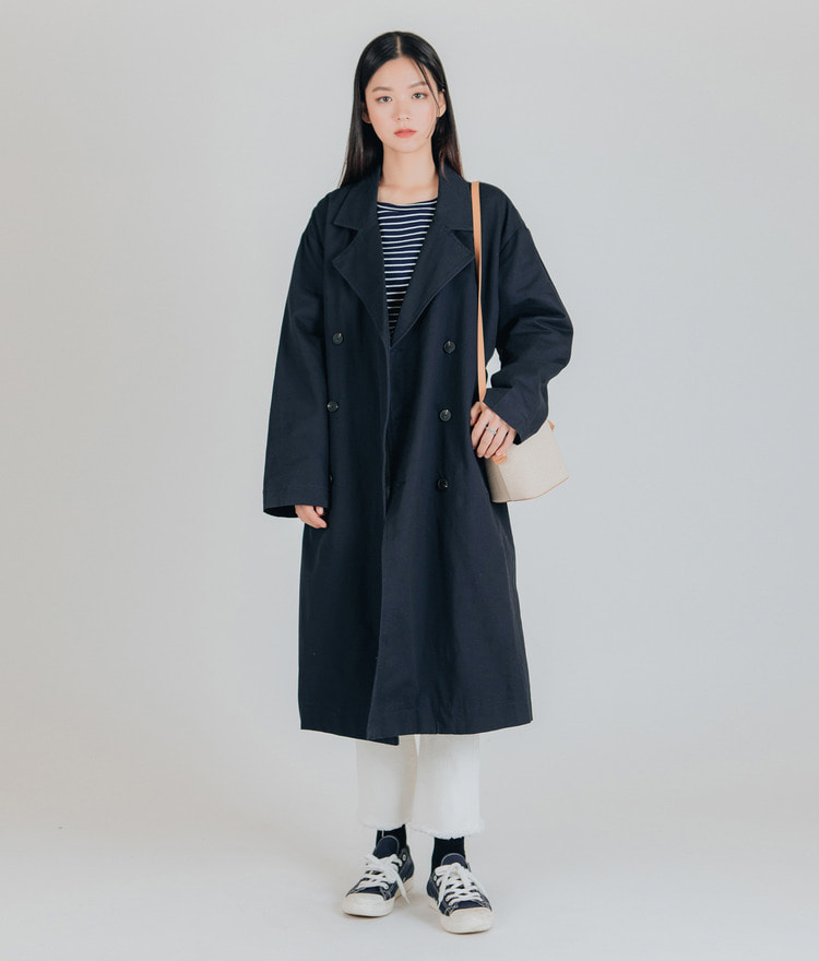 Simple Loose Trench Coat