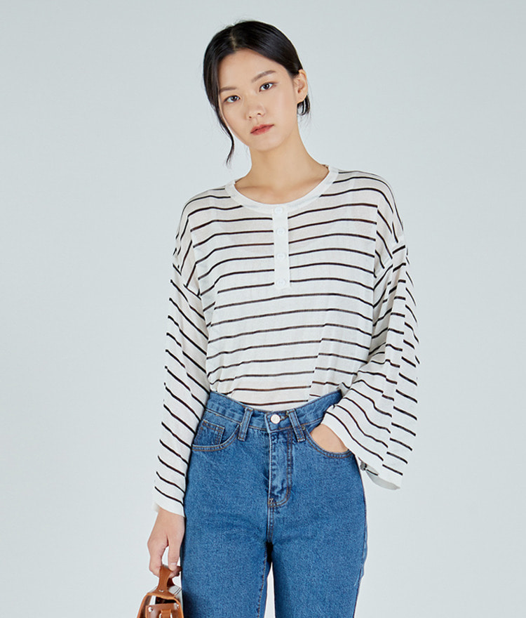 Cool Striped Wide Cuffs Top