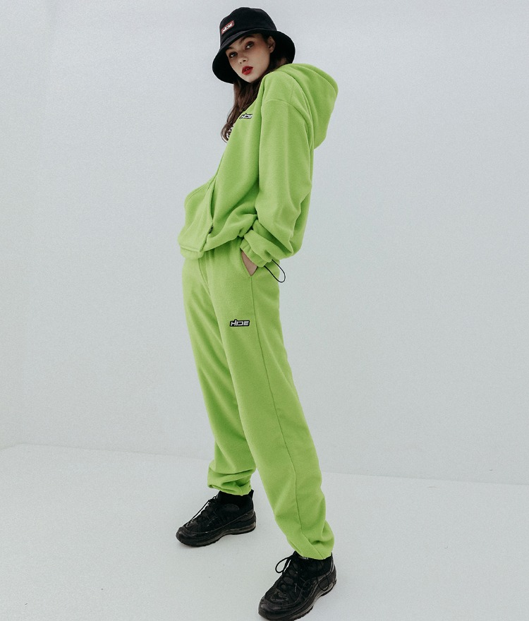 HIDE Future Fleece Hoodie(Light Green)HIDE Future Fleece Pants(Light Green)SET