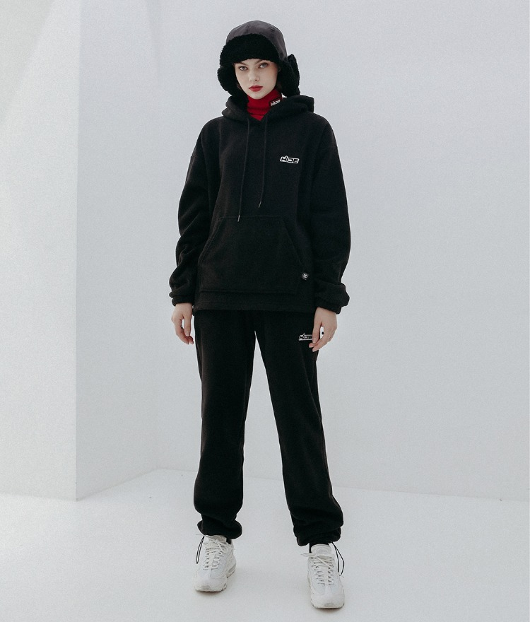 HIDE Future Fleece Hoodie(Black)HIDE Future Fleece Pants(Black)SET