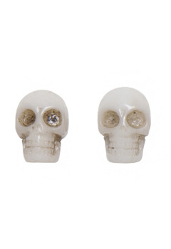 KREEPSVILLE666 White skull collection Earrings(WHITE)