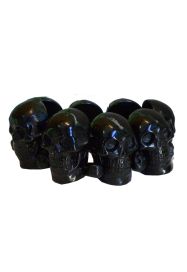 KREEPSVILLE666Black Skull Collection Bracelet