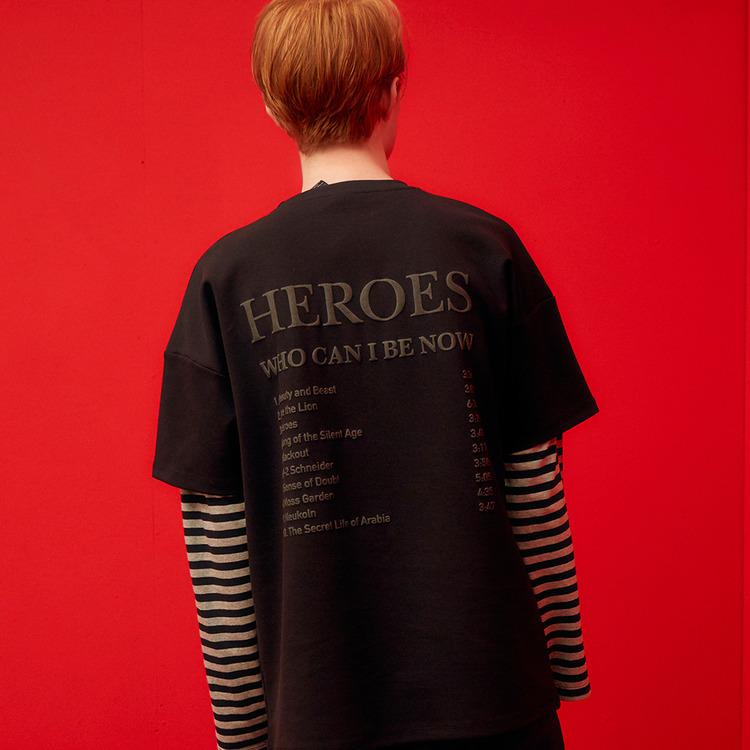 HEROES TRACK LIST TEE (BLACK)
