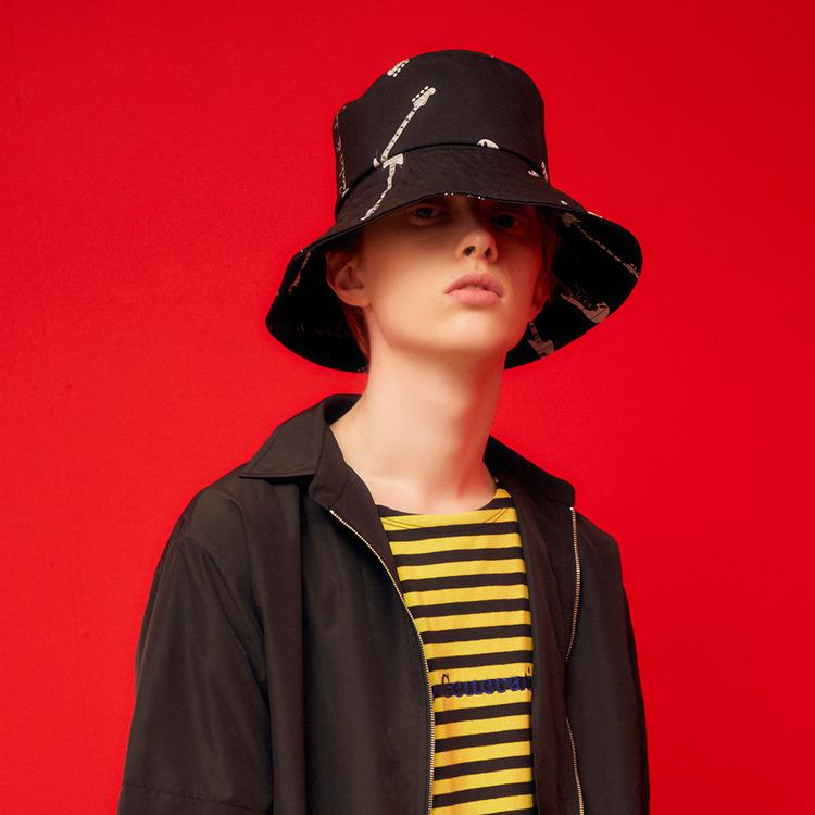 RL WIDE BUCKET HAT (BLACK)